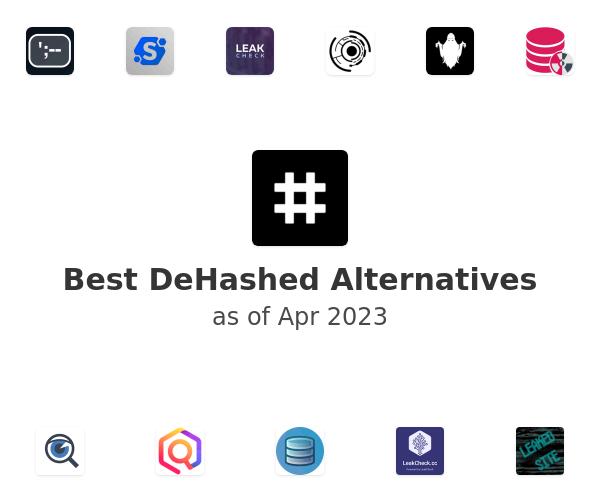 Best DeHashed Alternatives