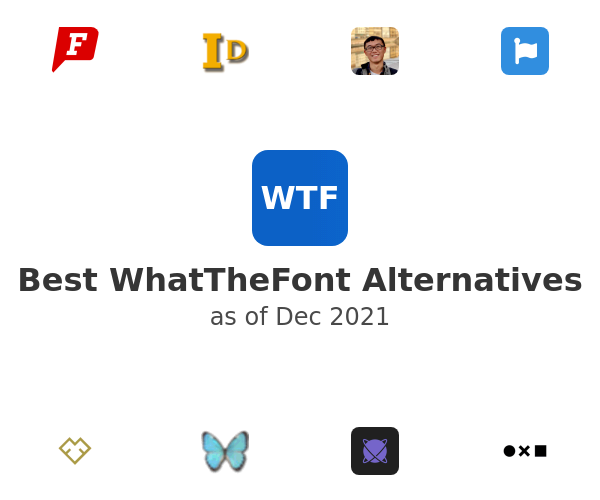 Best WhatTheFont Alternatives