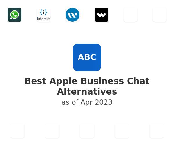 Best Apple Business Chat Alternatives