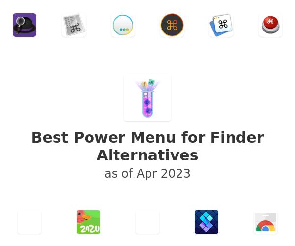Best Power Menu for Finder Alternatives