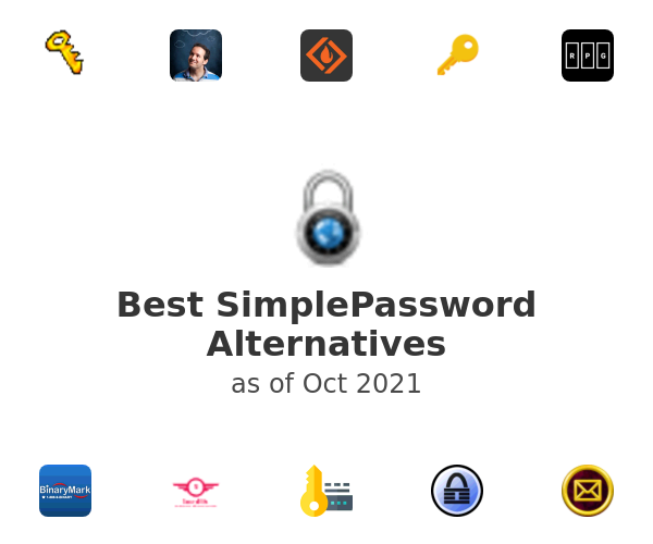 Best SimplePassword Alternatives