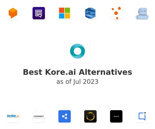 Best Kore.ai Alternatives