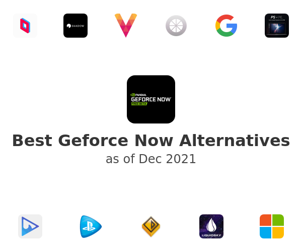 Best Geforce Now Alternatives