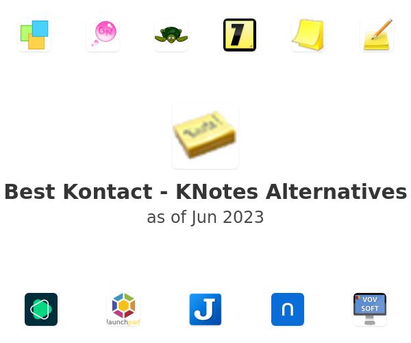 Best Kontact - KNotes Alternatives