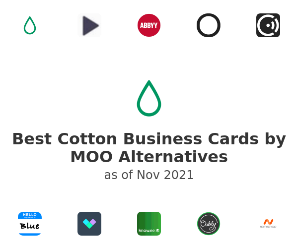Best Cotton Business Cards by MOO Alternatives