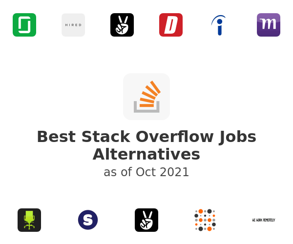 Best Stack Overflow Jobs Alternatives