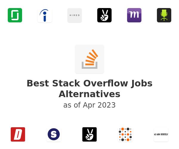 Best Stack Overflow Jobs Alternatives
