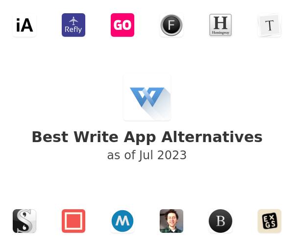 Best Write App Alternatives