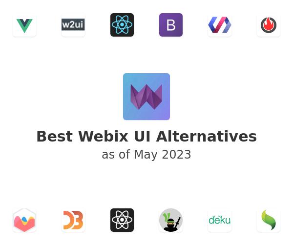 Best Webix UI Alternatives