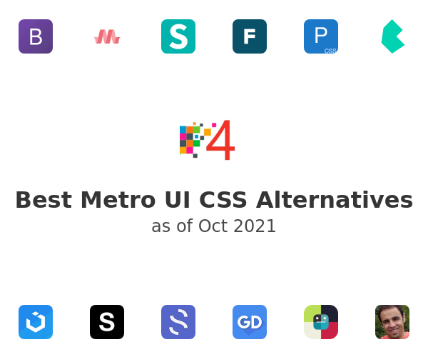 Best Metro UI CSS Alternatives