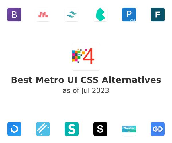 Best Metro UI CSS Alternatives