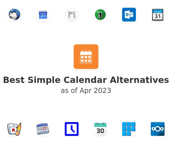 Best Simple Calendar Alternatives