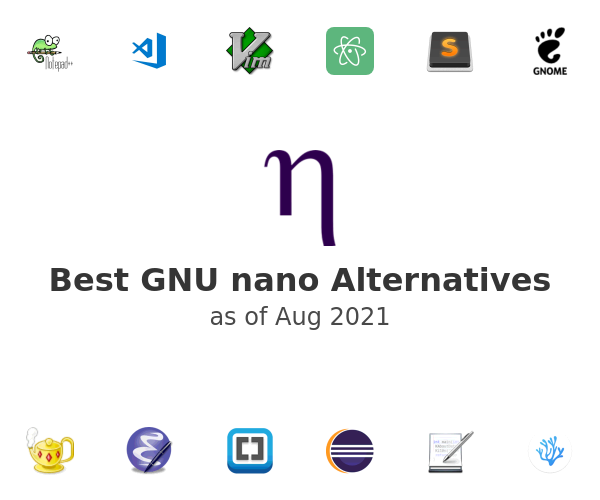 Best GNU nano Alternatives