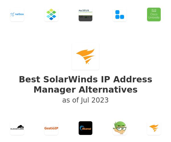 Best SolarWinds IP Address Manager Alternatives