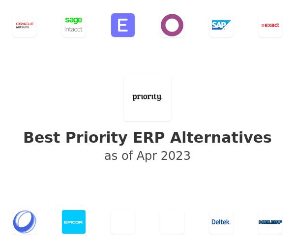 Best Priority ERP Alternatives