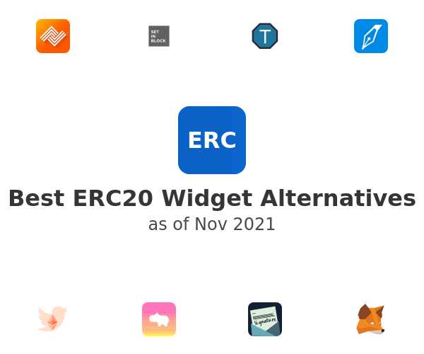 Best ERC20 Widget Alternatives