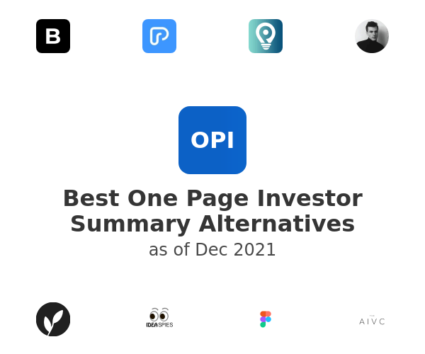Best One Page Investor Summary Alternatives