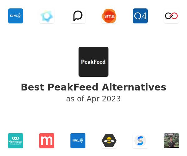 Best PeakFeed Alternatives