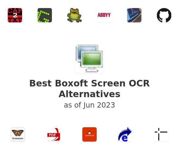 Best Boxoft Screen OCR Alternatives