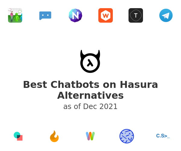 Best Chatbots on Hasura Alternatives
