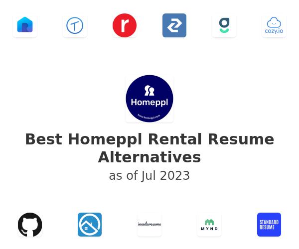 Best Homeppl Rental Resume Alternatives