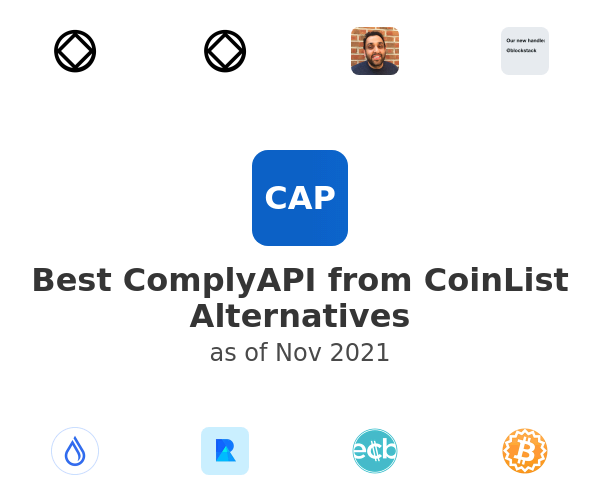 Best ComplyAPI from CoinList Alternatives
