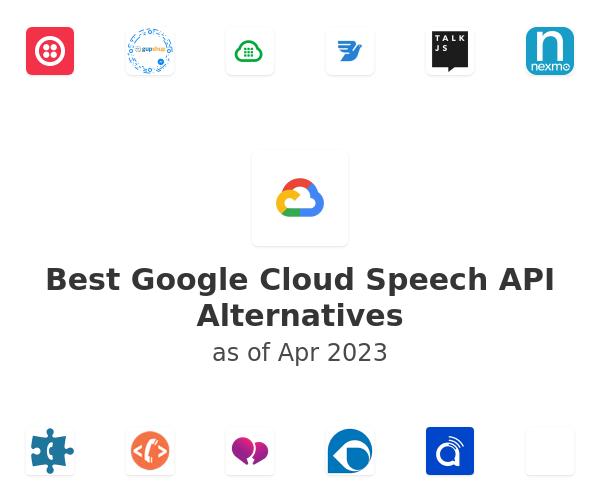 Best Google Cloud Speech API Alternatives
