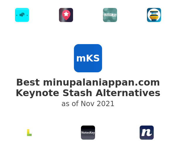Best Keynote Stash Alternatives