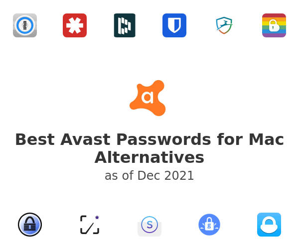 Best Avast Passwords for Mac Alternatives