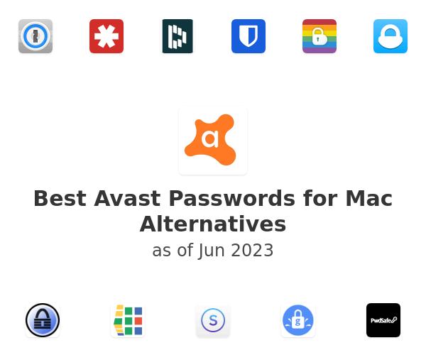 Best Avast Passwords for Mac Alternatives