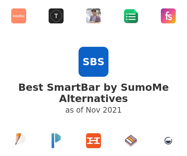Best SmartBar by SumoMe Alternatives