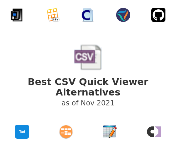 Best CSV Quick Viewer Alternatives