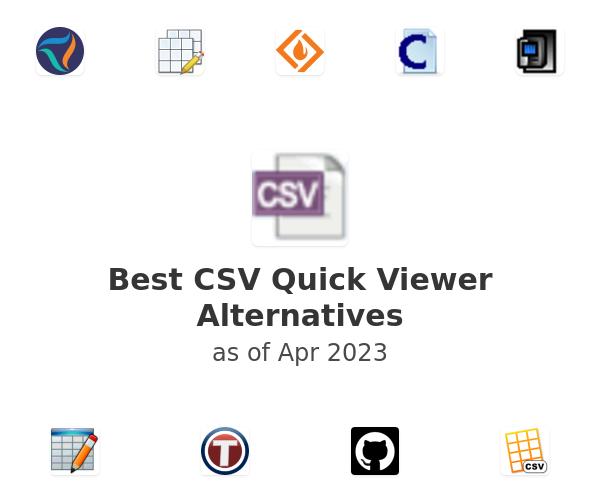 Best CSV Quick Viewer Alternatives