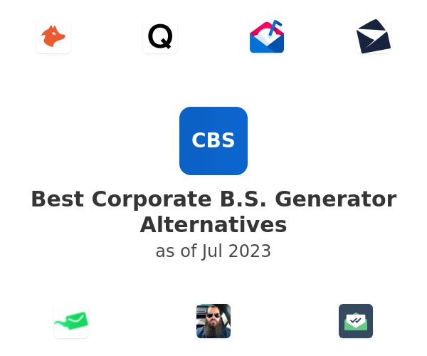 Best Corporate B.S. Generator Alternatives