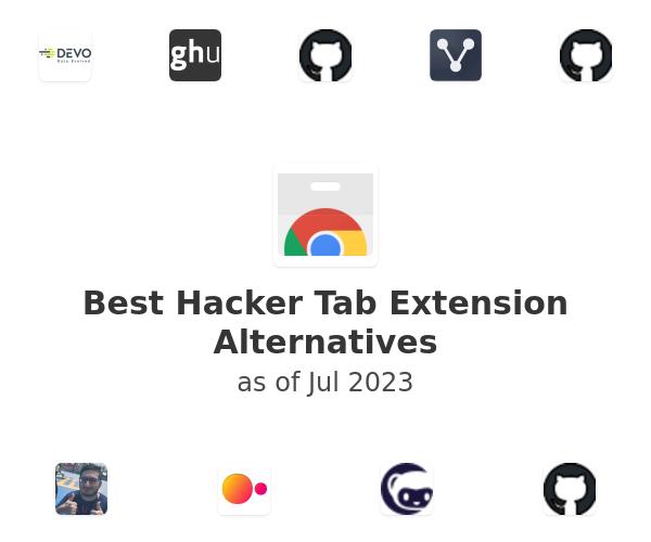 Best Hacker Tab Alternatives