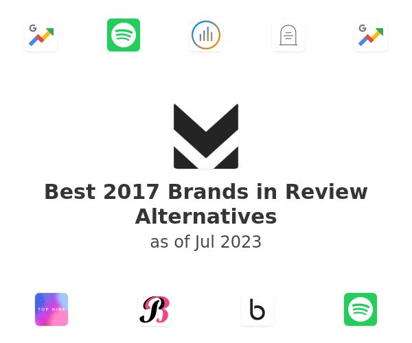 Best 2017 Brands in Review Alternatives