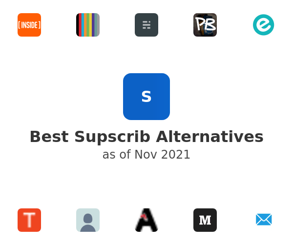 Best Supscrib Alternatives