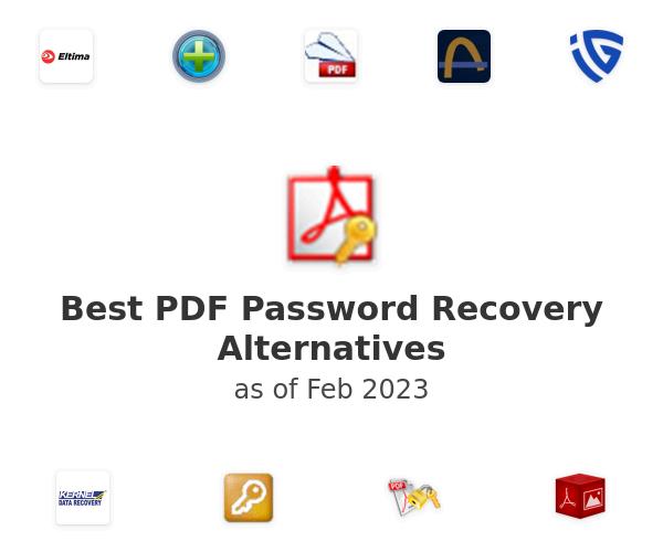 Best PDF Password Recovery Alternatives