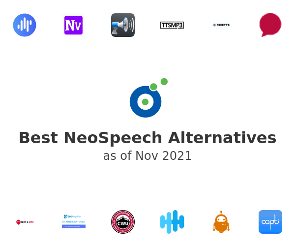 Best NeoSpeech Alternatives