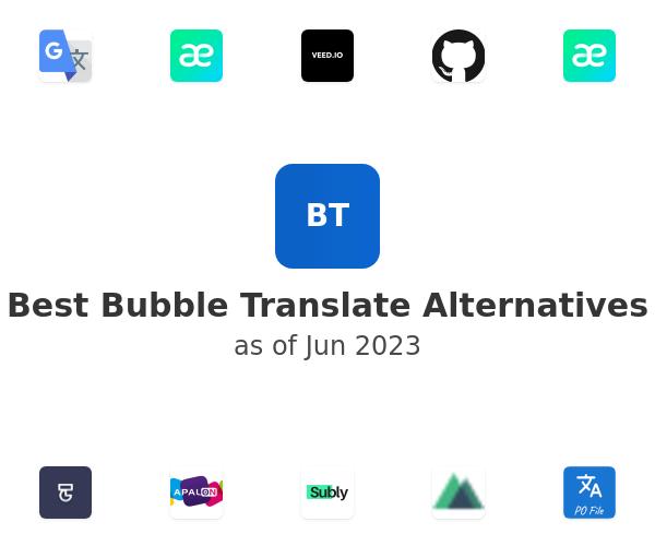 Best Bubble Translate Alternatives