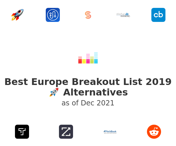 Best Europe Breakout List 2019 🚀 Alternatives