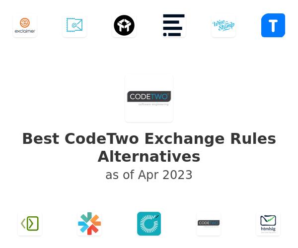 Best CodeTwo Exchange Rules Alternatives