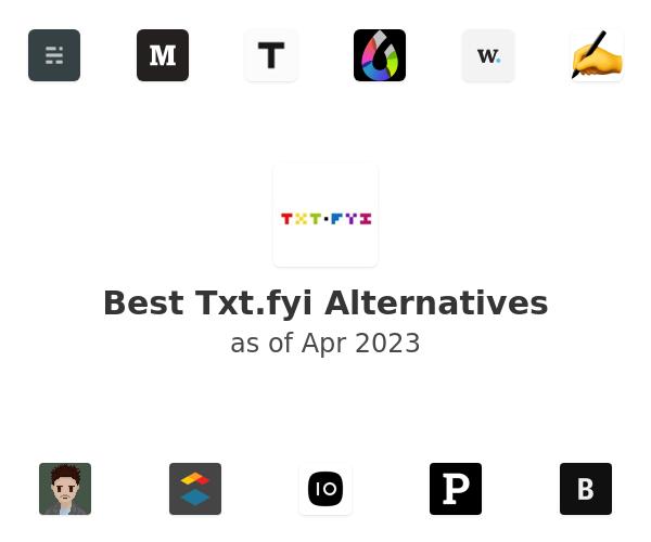 Best Txt.fyi Alternatives