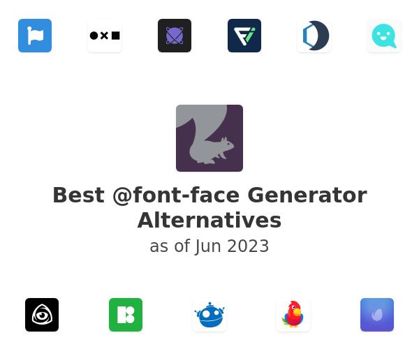 Best @font-face Generator Alternatives
