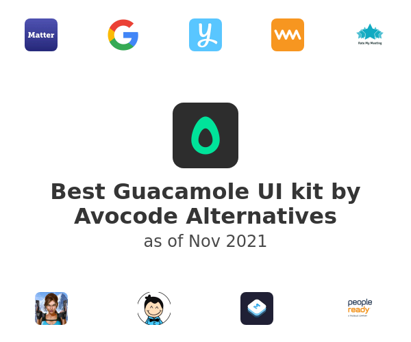 Best Guacamole UI kit by Avocode Alternatives