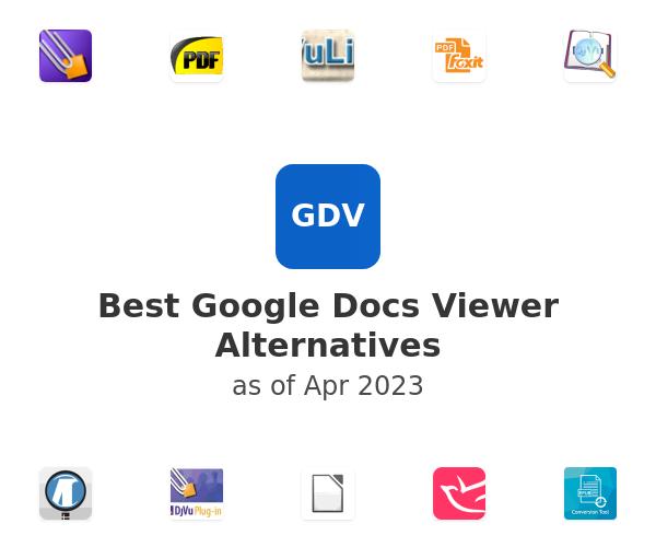 Best Google Docs Viewer Alternatives