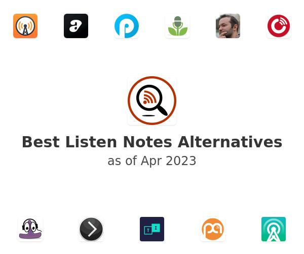 Best Listen Notes Alternatives