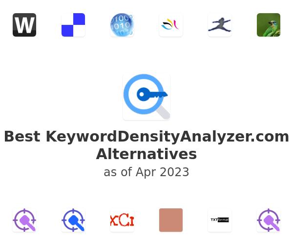 Best KeywordDensityAnalyzer.com Alternatives