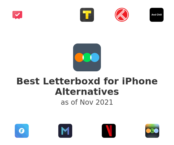 Best Letterboxd for iPhone Alternatives