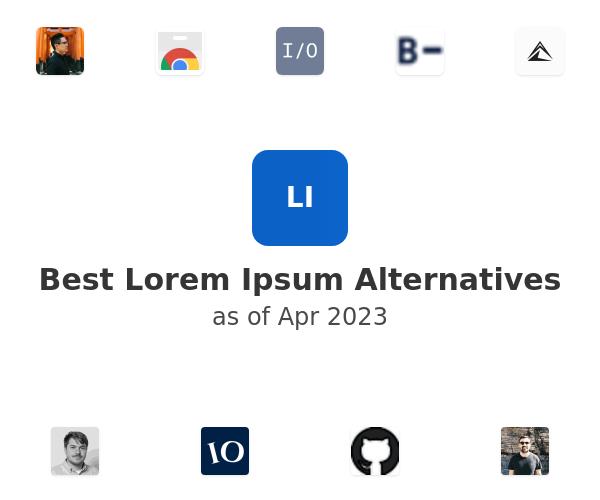 Best Lorem Ipsum Alternatives